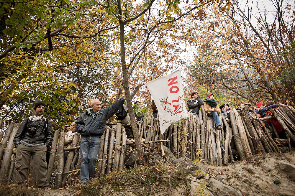 The twenty year old No TAV movement in Italy that opposes the construction of a new high-speed railway connecting Turin-Lyon.