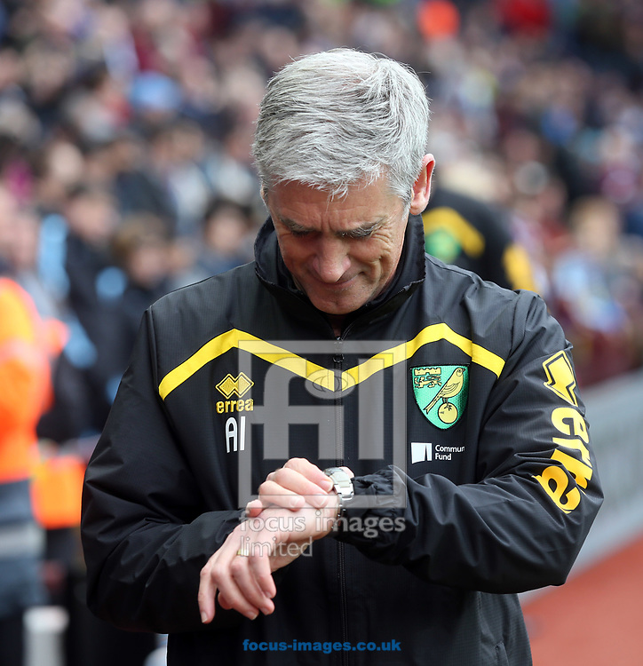 Norwich Caretaker Manager Alan Irvine before the Sky Bet Championship match at Villa Park, Birmingham<br /> Picture by Paul Chesterton/Focus Images Ltd +44 7904 640267<br /> 01/04/2017