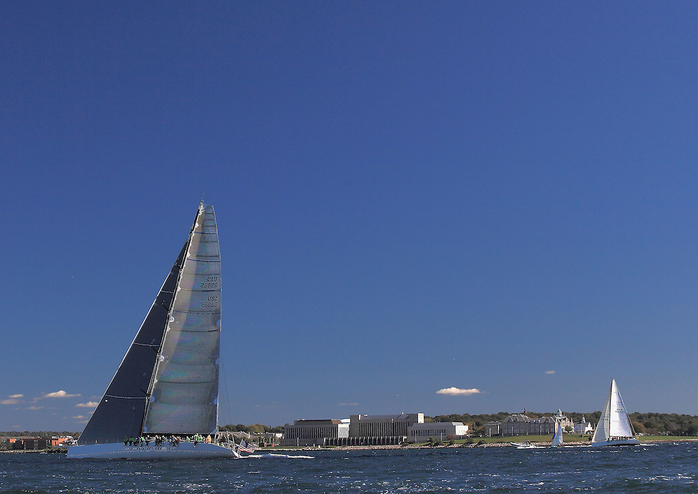Rambler speeds up the coast of Aquidneck Island at the 9th Annual Sail for Hope event in Newport, RI.
