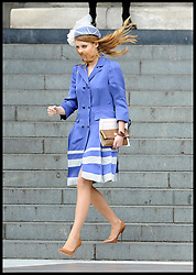 Princess Beatrice leaving St Pauls Cathedral after the National Service of Thanksgiving celebrating the Queens Diamond Jubilee Tuesday June 5, 2012. Photo By Andrew Parsons/i-Images