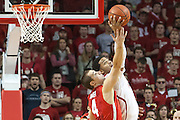 January 20, 2014: Shavon Shields (31) of the Nebraska Cornhuskers beats out Aaron Craft (4) of the Ohio State Buckeyes for the rebound at the Pinnacle Bank Arena, Lincoln, NE. Nebraska won in the game against Ohio State 68 to 62.
