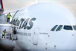 A380 being loaded. Client London Heathrow Airport Ltd