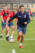 Niall Evalds of Salford Red Devils during the England Knights training session at Leigh Sports Village, Leigh<br /> Picture by Steve McCormick/Focus Images Ltd 07545 862647<br /> 17/10/2018