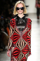 Ida Dyberg walks the runway wearing Custo Barcelona Fall 2016 20th Anniversary Collection during New York Fashion Week on February 14, 2016