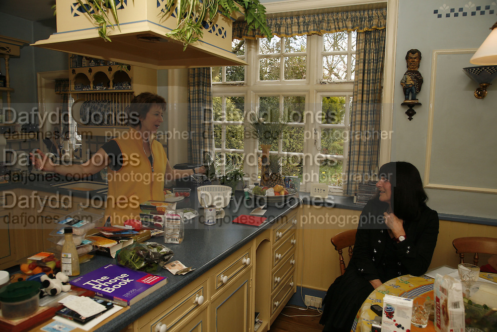 MAUREEN LIPMAN AND VALERIE GROVE ,  Muswell Hill. 10 April 2006. ONE TIME USE ONLY - DO NOT ARCHIVE  © Copyright Photograph by Dafydd Jones 66 Stockwell Park Rd. London SW9 0DA Tel 020 7733 0108 www.dafjones.com
