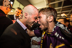 during reception of NK Maribor after winning against Celtic Glasgow FC and Qualifying to Group stage of UEFA Champions League  2014/15 on August 27, 2014 in Airport Edvard Rusjan, Maribor, Slovenia. Photo by Gregor Krajncic / Sportida