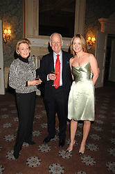 Left to right, HUMPHREY & POLLY WOOD and her daughter KATE REARDON at a party to celebrate the publication of Top Tips For Girls by Kate Reardon held at Claridge's, Brook Street, London on 28th January 2008.<br />