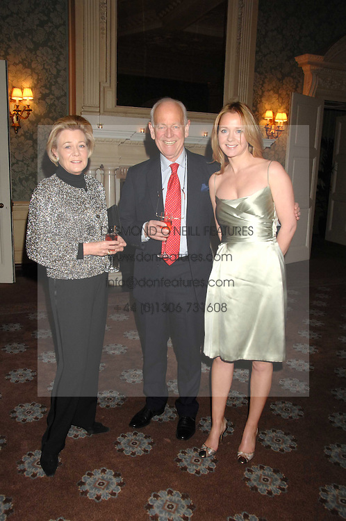 Left to right, HUMPHREY & POLLY WOOD and her daughter KATE REARDON at a party to celebrate the publication of Top Tips For Girls by Kate Reardon held at Claridge's, Brook Street, London on 28th January 2008.<br /><br />NON EXCLUSIVE - WORLD RIGHTS