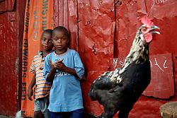 Daily life in Kroo Bay slum. ..Kroo Bay, Freetown, Sierra Leone.