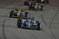 Dario Franchitti, Tony Kanaan, Takuma Sato, Iowa Corn Indy 250, Iowa Speedway, Newton, IA USA 6/25/2011