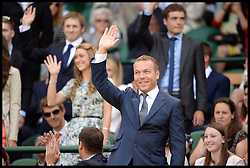 Great Britain's Olympians Sir Chris Hoy in the royal box at The Wimbledon Tennis Championships<br /> The All England Lawn Tennis Club, Wimbledon, United Kingdom<br /> Saturday, 29th June 2013<br /> Picture by Andrew Parsons / i-Images