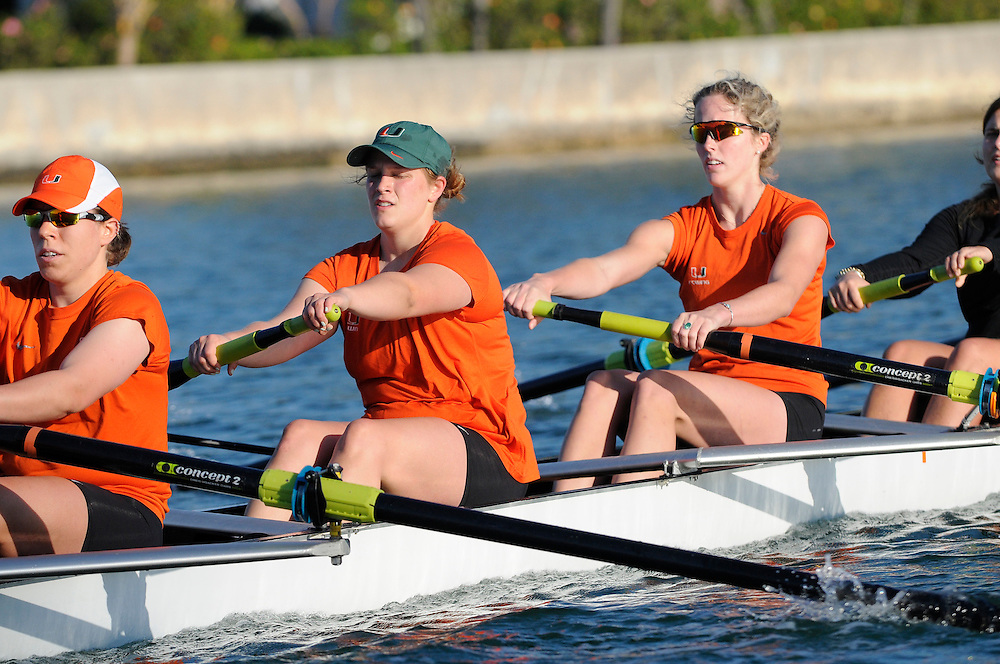 2013 Miami Hurricanes Women's Rowing Photo Day