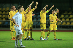Players of Domzale during penalty shots at Slovenian Supercup between NK Domzale and NK Interblock, on July 9, 2008, in Domzale. Interblock won the mach and Supercup by 7 : 6 after penalty shots. (Photo by Vid Ponikvar / Sportal Images)