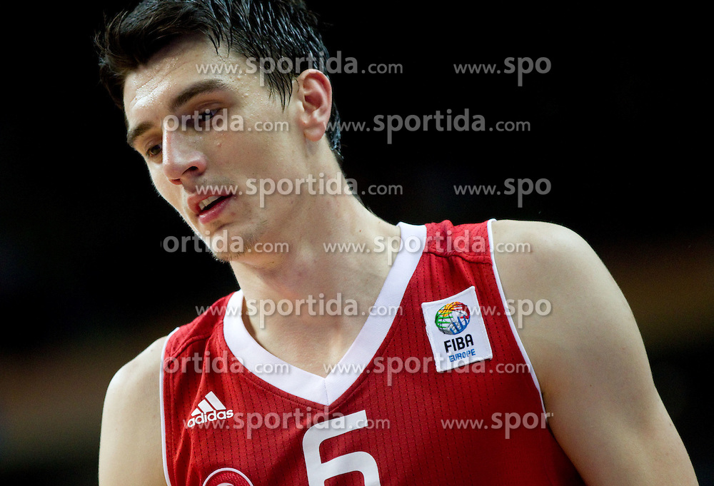 Emir Preldzic of Turkey during basketball game between National basketball teams of Germany and Turkey at FIBA Europe Eurobasket Lithuania 2011, on September 9, 2011, in Siemens Arena,  Vilnius, Lithuania. Germany defeated Turkey 73-67.  (Photo by Vid Ponikvar / Sportida)