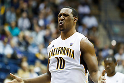 November 16, 2010; Berkeley, CA, USA;  California Golden Bears center Markhuri Sanders-Frison (10) reacts after missing a free throw against the Cal State Northridge Matadors during the first half at Haas Pavilion.