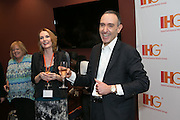 The Americas CEO Eli Maalouf toasts to the award winners after a IHG town hall meeting at the Georgia World Congress Center.