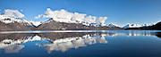 Lake Wakatipu panoramic, in between Queenstown and Glenorchy, New Zealand