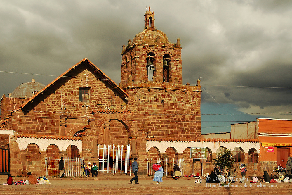 Street scene in Tihuanacu, La Paz, Bolivia