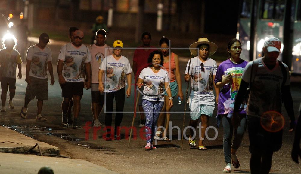 CÍRIO DE NAZARÉ 2015 - BELÉM - 08/10/2015 - Peregrinos começam a chegar a Belém (PA) para participar do Círio de Nazaré. Foto: Raimundo Paccó/Frame