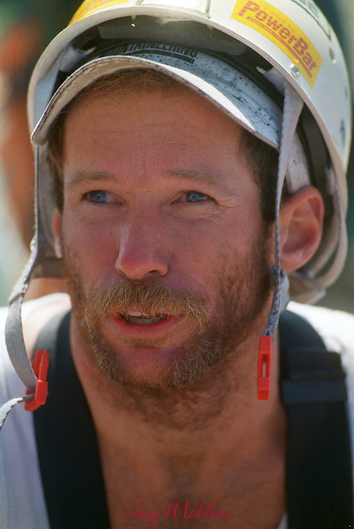 Mark Wellman after completing the Tis-Ack route on Half Dome with climbing partner Mike Corbett.