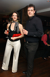 MARIA GRACHVOGEL and her brother DAVID GRACHVOGEL at a St.Valentine's dinner hosted by Ruinart champagne at Tom Aikens Restaurant, Elystan Street, London on 6th February 2007.<br />