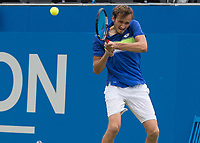 Tennis - 2017 Aegon Championships [Queen's Club Championship] - Day Four, Thursday <br /> <br /> Men's Singles: Round of 16 - Daniil MEDVEDEV (RUS) Vs Thanasi KOKKINAKIS (AUS)<br /> <br /> <br /> Danil Medvedev (RUS) with a backhand return at Queens Club<br /> <br /> COLORSPORT/DANIEL BEARHAM