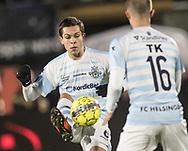 FODBOLD: Mikkel Basse (FC Helsingør) under kampen i ALKA Superligaen mellem FC Helsingør og Hobro IK den 17. november 2017 på Helsingør Stadion. Foto: Claus Birch