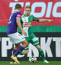 09.11.2014, Ernst Happel Stadion, Wien, AUT, 1. FBL, SK Rapid Wien vs FK Austria Wien, 15. Runde, im Bild Jens Stryger Larsen (FK Austria Wien) und Florian Kainz (SK Rapid Wien) // during a Austrian Football Bundesliga Match, 15th Round, between SK Rapid Vienna and FK Austria Vienna at the Ernst Happel Stadion, Wien, Austria on 2014/11/09. EXPA Pictures © 2014, PhotoCredit: EXPA/ Thomas Haumer