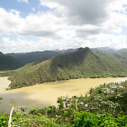 OCTOBER 25 - UTUADO, PUERTO RICO - <br /> Lago Dos Bocas in Utuado where troops from Fort Bragg, NC, are using a water filtration system to purify the liquid to hand out to residents.<br /> (Photo by Angel Valentin/Freelance)