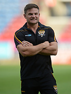 Simon Woolford Head Coach of Huddersfield Giants before the Betfred Super League match at the John Smiths Stadium, Huddersfield<br /> Picture by Richard Land/Focus Images Ltd +44 7713 507003<br /> 27/07/2018