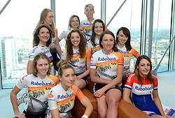 13-01-2014 WIELRENNEN: PRESENTATIE RABOBANK LIV DAMESTEAM 2014: UTRECHT<br /> In het hoofdkantoor van Rabobank Nederland werd het Rabo Liv damesteam gepresenteerd <br /> &copy;2014-FotoHoogendoorn.nl