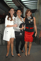 Centre, DAME GAIL RONSON with her daughters, left HAYLEY GOLDENBERG and right, LISA RONSON at the Roundhouse Rock and Roll Circus - an evening to raise funds for the Roundhouse's continued delivery of projects and facilities for young people, held at The Roundhouse, Chalf Farm Road, London on 12th June 2008.<br />
