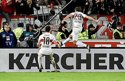 30.12.2015, Mercedes Benz Arena, Stuttgart, GER, 1. FBL, VfB Stuttgart vs Hamburger SV, 19. Runde, im Bild TOR zum 2:1 durch Artem Kravets VfB Stuttgart per Kopfball // during the German Bundesliga 19th round match between VfB Stuttgart and Hamburger SV at the Mercedes Benz Arena in Stuttgart, Germany on 2015/12/30. EXPA Pictures © 2016, PhotoCredit: EXPA/ Eibner-Pressefoto/ Weber<br /> <br /> *****ATTENTION - OUT of GER*****