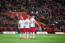 November 10, 2017 - Warsaw, Poland - Kamil Grosicki, Grzegorz Krychowiak and Jaroslaw Jach during the international friendly soccer match between Poland and Uruguay at the PGE National Stadium in Warsaw, Poland on 10 November 2017  (Credit Image: © Mateusz Wlodarczyk/NurPhoto via ZUMA Press)