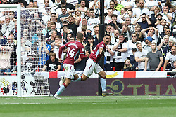 May 27, 2019 - London, England, United Kingdom - Anwar El Ghazi (22) of Aston Villa celebrates after scoring a goal to make it 1-0 during the Sky Bet Championship Play Off Final between Aston Villa and Derby County at Wembley Stadium, London on Monday 27th May 2019. (Credit Image: © Mi News/NurPhoto via ZUMA Press)