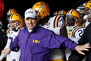 28 December 2009: LSU Head Coach Les Miles prepares to lead his team onto the field during the 2010 Champs Sports Bowl held at the Florida Citrus Bowl in Orlando ,FL.  .Penn State defeated LSU 19-17..Mandatory Credit: Donald Montague / Southcreek Global