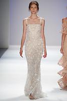 Lara Mullen walks the runway wearing Tadashi Shoji during Mercedes-Benz Fashion Week in New York City on September 6, 2012