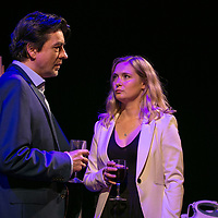 TOUCH by Jones ;<br /> Amy Morgan as Dee ;<br /> James Clyde as Miles ;<br /> Directed by Vicky Jones ;<br /> Soho Theatre, London, UK ;<br /> 11 July 2017 ;<br /> Credit: Pete Jones / ArenaPAL ;<br /> www.arenapal.com