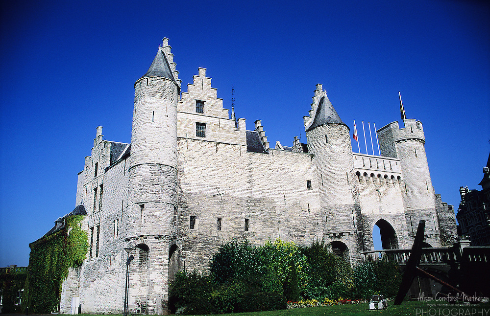 The ancient stone castle Het Steen of Antwerp, Belgium