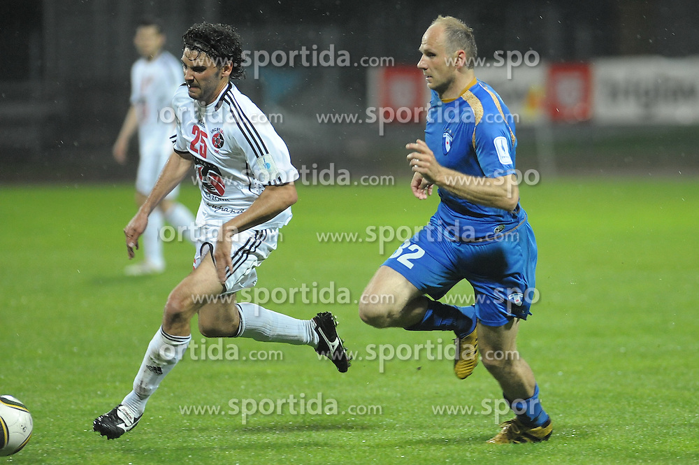 Osterc of Gorica and  Horvat of Interblock at football match of 34th Round of 1st Slovenian League between NK Hit Gorica and NK Interblock, on May 5, 2010, in Sportni park, Nova Gorica, Slovenia. (Photo by foto-forma/ Sportida)