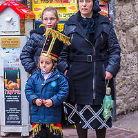 JERUSALEM - MARCH 13 : Ultra Orthodox family during Purim in Mea Shearim Jerusalem on March 13 2017 , Purim is a Jewish holiday celebrates the salvation of the jews from genocide in ancient Persia
