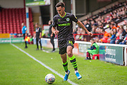 Forest Green Rovers Aaron Collins(10) runs forward during the EFL Sky Bet League 2 match between Walsall and Forest Green Rovers at the Banks's Stadium, Walsall, England on 10 August 2019.