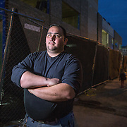 WASHINGTON, DC - MAR10: Robert Weiler Jr., 35, a fervent anti-abortion protester, in a portrait outside the construction site of the new Planned Parenthood which is across the street from the Two Rivers Public Charter School, March 10, 2016, in Washington, DC. Weiler who has protested at the site is being sued by the Two Rivers school to stop him from protesting so close to the school.<br /> <br /> Weiler served five years in federal prison for planning to bomb another clinic. In 2006, authorities received information from Weiler&rsquo;s parents that they believed their son planned to destroy an abortion clinic. Weiler said he had intended to use a pipe bomb to blow up the abortion clinic in College Park. He also said he had planned tos hoot doctors who perform abortions. Since serving his prison sentence and probation, Weiler says he has protested at several places. (Photo by Evelyn Hockstein/For The Washington Post)