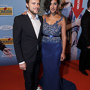 NLD/Amsterdam/20150119 - Premiere film Homies, Toprak Yalcinar en partner Mats