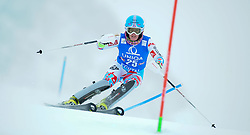 29.12.2014, Hohe Mut, Kühtai, AUT, FIS Ski Weltcup, Kühtai, Slalom, Damen, 1. Durchgang, im Bild Laurie Mougel (FRA) // Laurie Mougel of France in action during 1st run of Ladies Slalom of the Kuehtai FIS Ski Alpine World Cup at the Hohe Mut Course in Kuehtai, Austria on 2014/12/29. EXPA Pictures © 2014, PhotoCredit: EXPA/ Erich Spiess