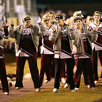 Lauren Wood   Buy at photos.djournal.com<br /> Kossuth cheerleaders dance on the sidelines during Friday night's game at Booneville.