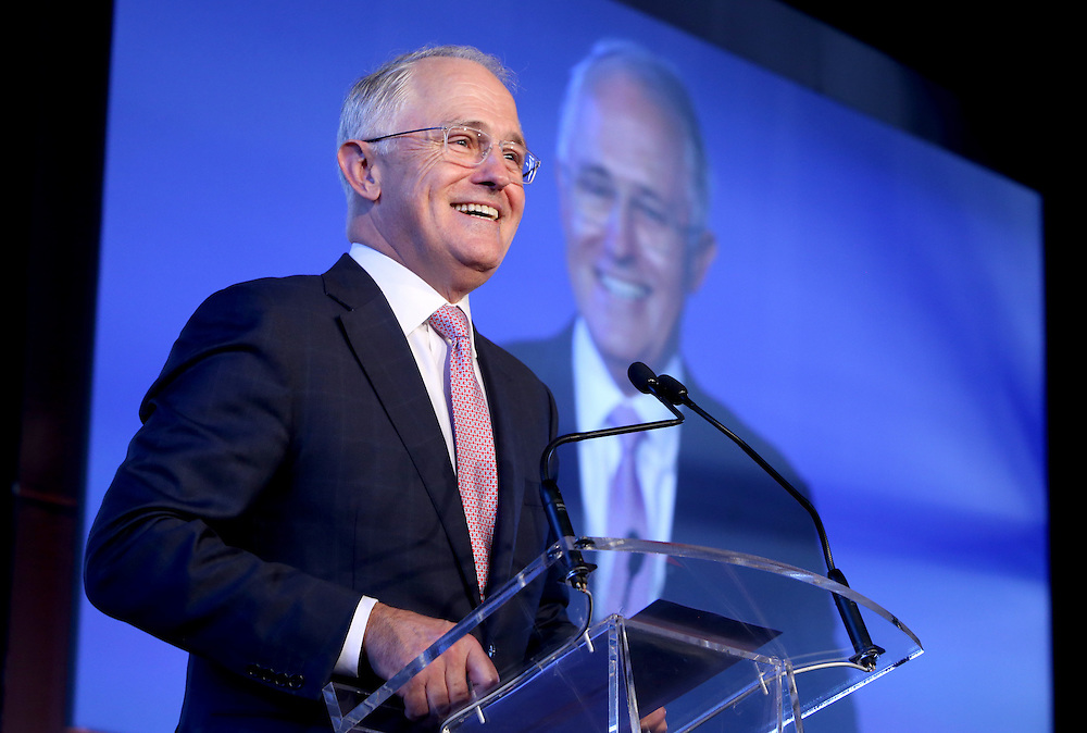 Prime Minister Turnbull at the Westpac Education Foundation launch.
