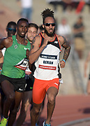 May 17, 2018; Los Angeles, CA, USA;  Boris Berian places eighth in 800m heat in 1:50.70 during the USATF Distance Classic at Occidental College.