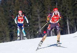 PREUSS Franziska of Germany competes during Women 12.5 km Mass Start competition of the e.on IBU Biathlon World Cup on Sunday, March 9, 2014 in Pokljuka, Slovenia. Photo by Vid Ponikvar / Sportida
