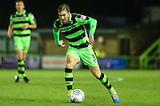 Forest Green Rovers Scott Laird(3) runs forward during the EFL Sky Bet League 2 match between Forest Green Rovers and Lincoln City at the New Lawn, Forest Green, United Kingdom on 12 September 2017. Photo by Shane Healey.